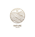 nature linear logo vector image