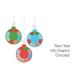 New year and christmas modern business steps to vector image