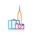 new york tourism destination icon vector image vector image