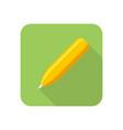 pen colored icon vector image vector image