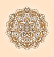 radial floral pattern vector image vector image
