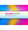 Rainbow background with banner place vector image