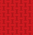 Red checkered bolts vector image vector image