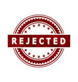 rejected stamp icon sign vector image vector image