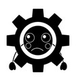 sad gear kawaii icon image vector image vector image