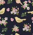 Seamless floral pattern in black vector image vector image