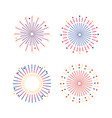 set fireworks explotion to holiday celebration vector image
