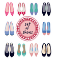 set of different models of women shoes vector image vector image
