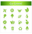 Set of hand drawn eco icons vector image