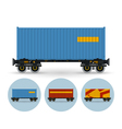 Set of icons colored the containers vector image