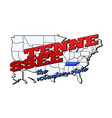 tennessee state with us state vector image