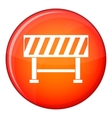 Traffic barrier icon flat style vector image vector image