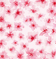 Watercolor background of pink flowers vector image
