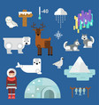 wild north arctic people vector image vector image