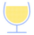 wine glass halftone icon vector image