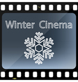 Winter Cinema vector image vector image