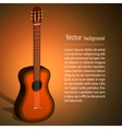 wooden acoustic guitar music concept vector image vector image