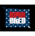born n bred - red white n blue usa stars vector image