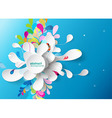 Abstract background with paper flower vector image
