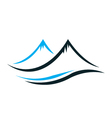 Mountains with steep peaks logo vector image