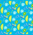 summer cocktail seamless pattern hand-drawn ice vector image