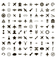 100 aviation icons set simple style vector image vector image