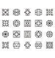 abstract geometric shape 16 vector image