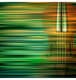 abstract green blur background with violin vector image