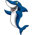 Angry shark cartoon vector | Price: 3 Credits (USD $3)