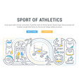 banner sport athletics vector image