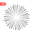 burst of sun rays in hipster line style vector image