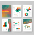 Business brochure design infographics template vector image vector image