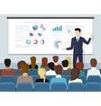 Business seminar speaker doing presentation and vector image vector image