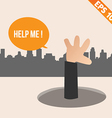Cartoon Businessman ask for help - - EPS10 vector image vector image