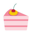 cartoon tasty cake isolated on white background vector image vector image