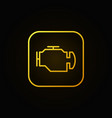 check engine yellow icon vector image vector image