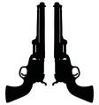 classic wild west revolvers vector image vector image