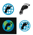 concept global carbon footprint vector image vector image