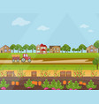 countryside village harvest season flat vector image vector image