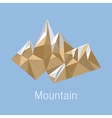 Cubic style mountain origami on blue background vector image vector image