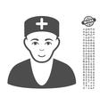 Doctor Icon With Bonus vector image vector image