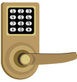 Door lock vector image vector image
