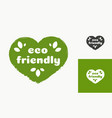 eco friendly logotype vector image