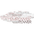 empower word cloud concept vector image vector image