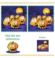 Find differences between the two images vector image vector image
