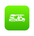 fire engine icon digital green vector image vector image