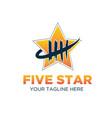 five star logo designs modern vector image