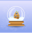 gingerbread house covered with snow in christmas vector image vector image