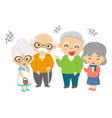 grandparent group vector image