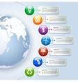 Green energy infographics vector image vector image